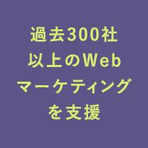 過去300社以上のWebマーケティングを支援