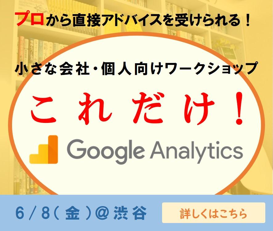 【ワークショップ】これだけ!Google Analytics